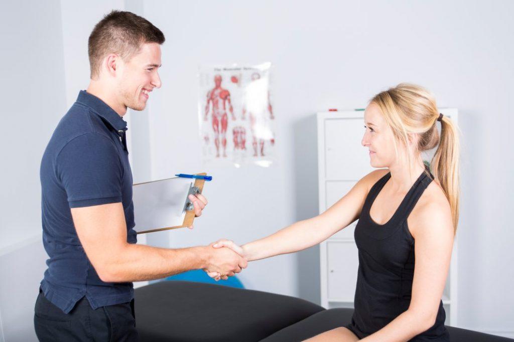 Greeting a PT Patient