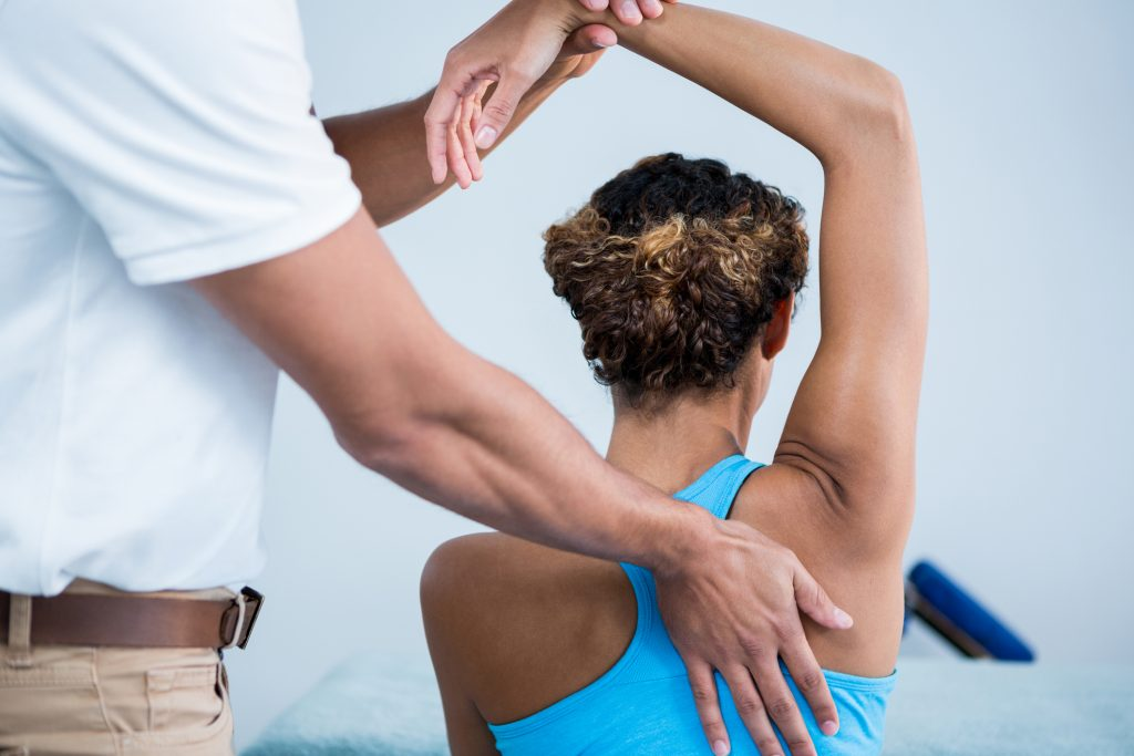 Female Patient Receiving Shoulder Therapy