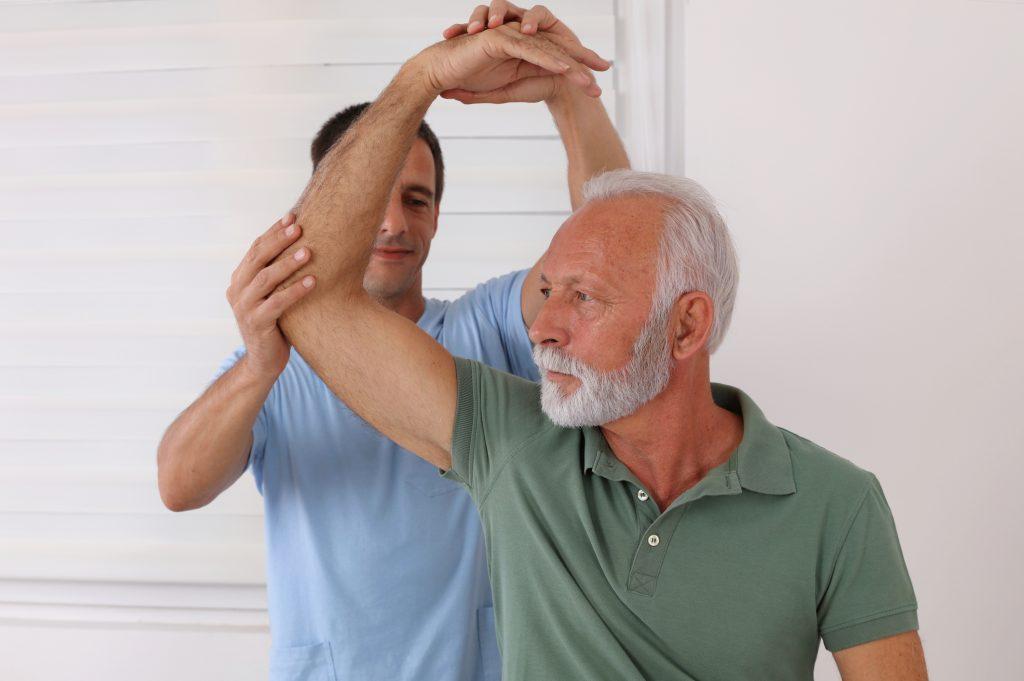 Rehabilitation with Senior Patient